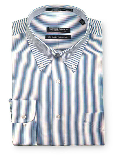 Forsyth of Canada Tailored-Fit Non-Iron Stripe Dress Shirt