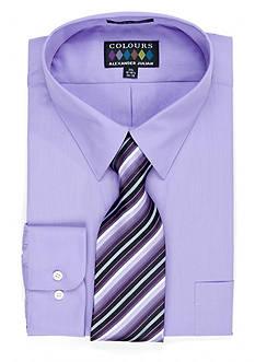 Alexander Julian Big & Tall Boxed Dress Shirt & Tie Set