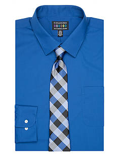 Alexander Julian Big & Tall Dress Shirt and Tie Set
