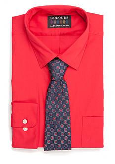 Alexander Julian Regular-Fit Boxed Dress Shirt and Tie Set