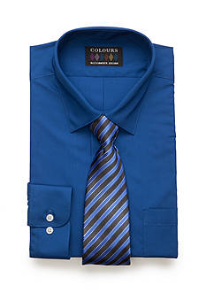 Alexander Julian Regular-Fit Solid Shirt and Tie Set