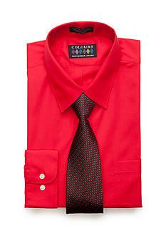 Alexander Julian Regular-Fit Solid Shirt and Tie Set
