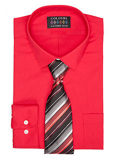 Alexander Julian Regular-Fit Dress Shirt and Tie Boxed Set