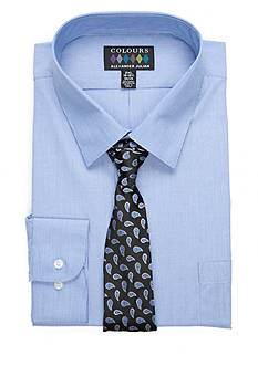 Alexander Julian Big & Tall Shirt and Tie Set