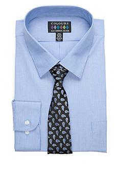Alexander Julian Big & Tall Shirt and Tie Set