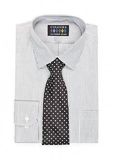 Alexander Julian Big Regular-Fit Boxed Dress Shirt and Tie Set