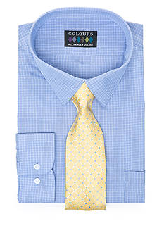 Alexander Julian Big & Tall Boxed Dress Shirt and Tie Set