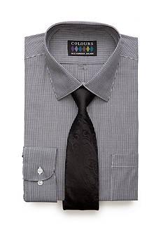 Alexander Julian Regular-Fit Gingham Shirt and Tie Box Set