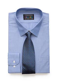 Alexander Julian Regular-Fit Pencil Stripe Shirt and Tie Box Set