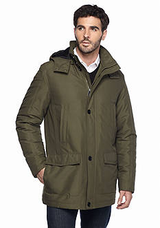 Perry Ellis Big & Tall Microfiber Parka Coat