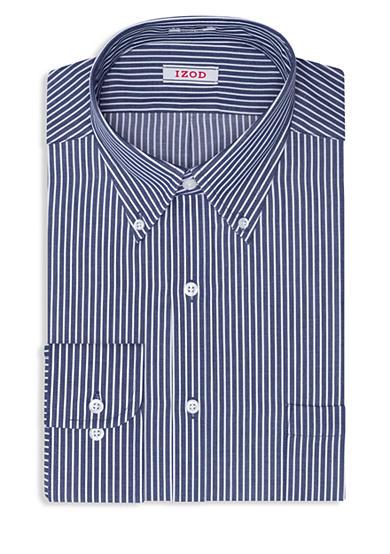 Izod Big Tall Bengal Stripe Dress Shirt