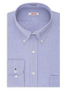 IZOD Big & Tall Twill Non-Iron Gingham Dress Shirt