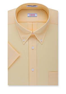 IZOD Wrinkle Free Short Sleeve Dress Shirt