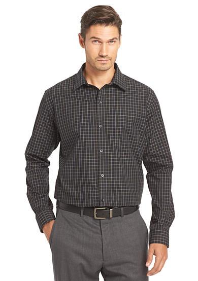 Van heusen no iron traveler stretch shirt for Van heusen iron free shirts