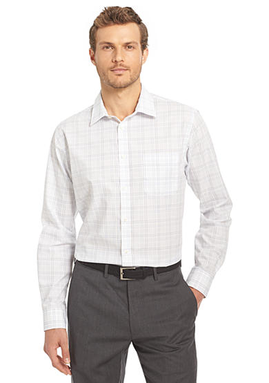 Van heusen non iron traveler stretch shirt belk for Van heusen iron free shirts