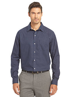 Van Heusen Non-Iron Large Check Traveler Stretch Shirt