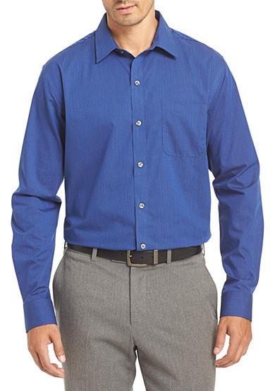Van heusen non iron stripe traveler stretch shirt belk for Van heusen non iron shirts