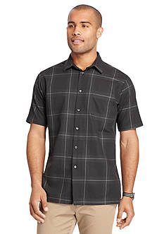 Van Heusen Short Sleeve Cotton Rayon Woven Shirt