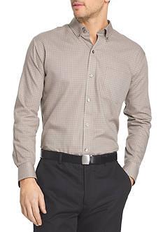 Van Heusen Long Sleeve Woven Non-Iron Large Check Shirt