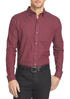 Van Heusen Long Sleeve Woven Non-Iron Large Check Shirt