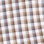 Van Heusen Men Sale: Khaki Ermine Van Heusen Long Sleeve Woven Check Non Iron Shirt