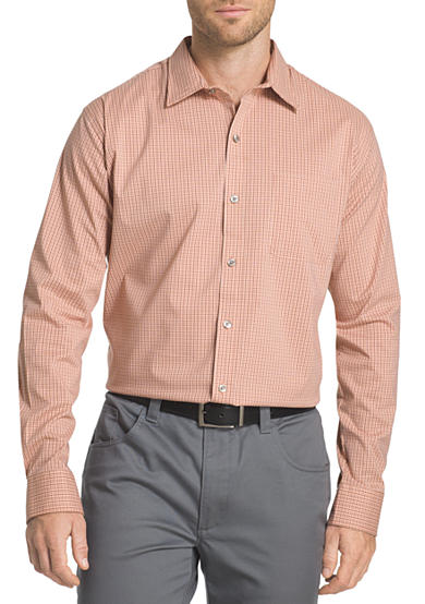 Van heusen long sleeve traveler stretch non iron shirt belk for Van heusen non iron shirts