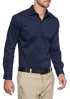 Van Heusen Slim Fit Flex Stretch Mini Dot Shirt
