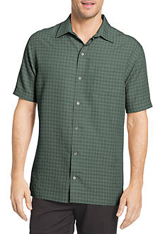 Van Heusen Short Sleeve Check Print Shirt