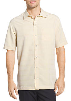Van Heusen Short Sleeve Windowpane Point Collar Shirt