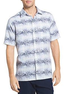 Van Heusen Oasis Texture Stripes Printed Dobby Point Collar Shirt