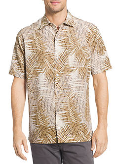 Van Heusen Oasis Palm Printed Dobby Point Collar Shirt