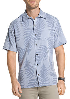 Van Heusen Short Sleeve Jacquard Point Collar Shirt