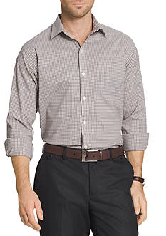Van Heusen Long Sleeve Mini Check Traveler Shirt