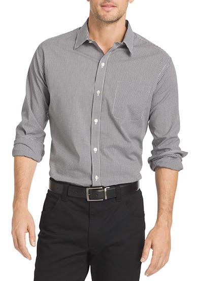 Van Heusen Long Sleeve Non Iron Traveler Stretch Mini