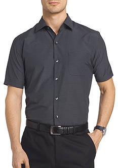 Van Heusen Short Sleeve Traveler Air Grid Point Collar Shirt