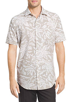 Van Heusen Short Sleeve White Wash Floral Print Shirt