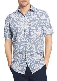 Van Heusen Short Sleeve White Wash Floral Print Shirt