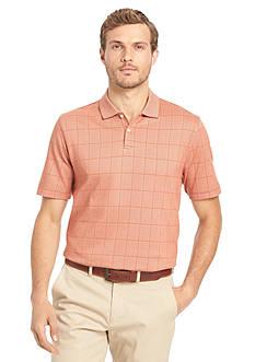 Van Heusen Window Pane Polo Shirt