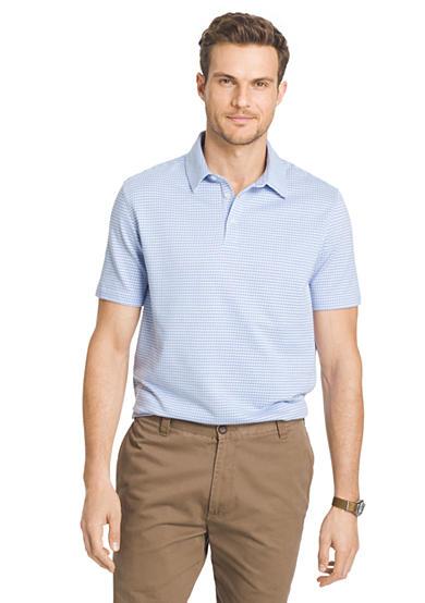 Van heusen plaid traveler polo shirt for Van heusen plaid shirts