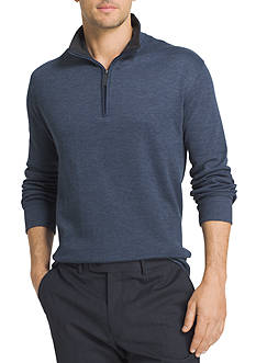 Van Heusen Long Sleeve Spectator Solid 1/4 Zip Shirt