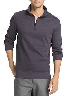 Van Heusen Long Sleeve Spectator Solid 1/4 Zip Shirt