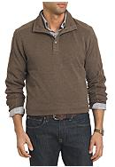Van Heusen Long Sleeve Solid Button Mock Sweater
