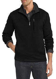 Van Heusen Long Sleeve Traveler Solid 1/4 Zip Pullover