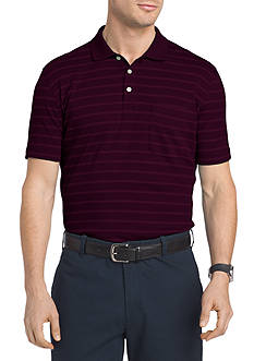Van Heusen Short Sleeve Interlock Stripe Polo