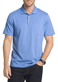 Van Heusen Short Sleeve Feeder Stripe Polo Shirt