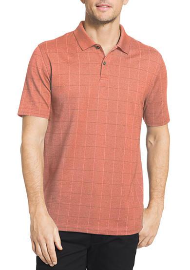 Van heusen short sleeve window pane polo shirt belk for Van heusen men s short sleeve dress shirts
