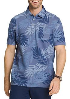 Van Heusen Short Sleeve Oasis Print Polo Shirt