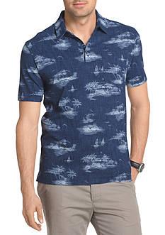 Van Heusen Short Sleeve Tropical Print Polo Shirt