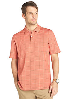 Van Heusen Short Sleeve Windowpane Polo