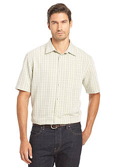Van Heusen Big & Tall Short Sleeve Dobby Point Collar Woven Shirt